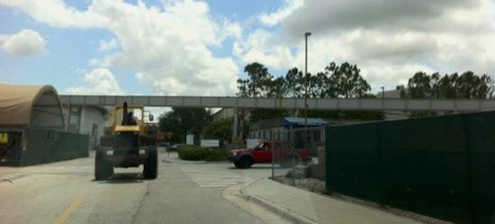 Hogwarts express train track construction backstage