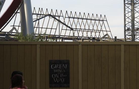 Hogwarts express train depot construction