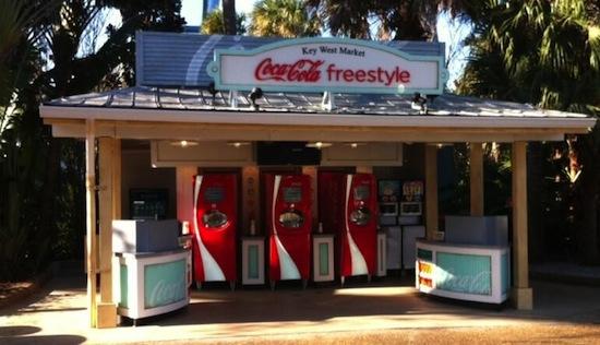 Coke Freestyle machines at SeaWorld