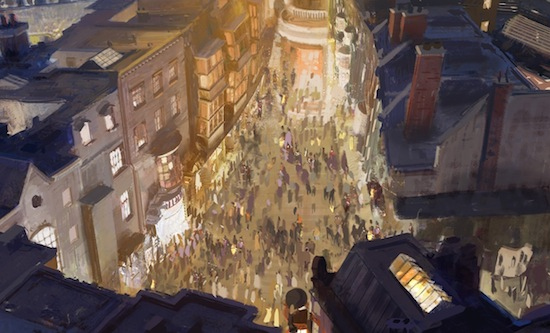 Wizarding World of Harry Potter expansion concept art streets diagon alley