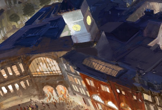 Wizarding World of Harry Potter expansion concept art train station