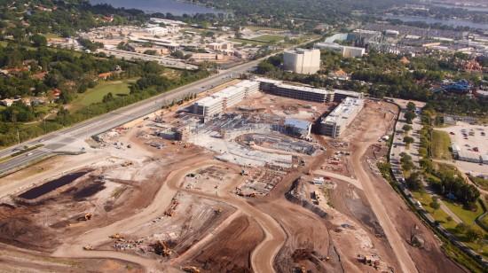 Cabana Bay Beach Resort construction