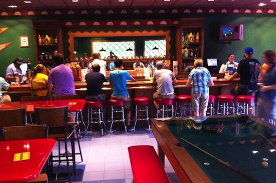 Moe's Tavern bar