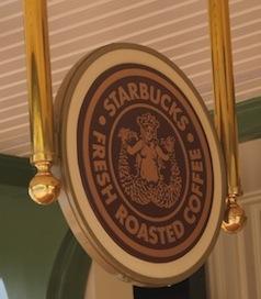 Disney Starbucks sign at Magic Kingdom