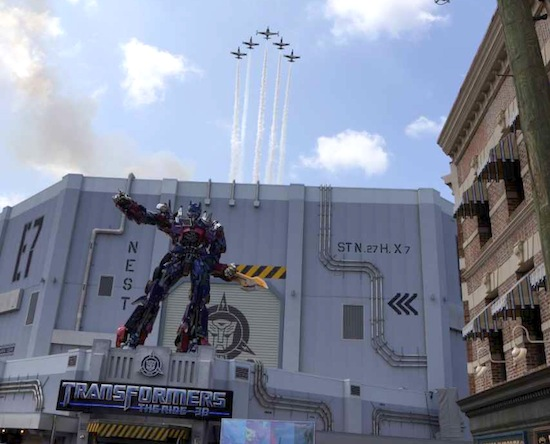Transformers grand opening with jets