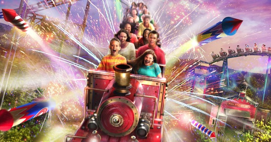 Dollywood Fire chaser express coaster rendering