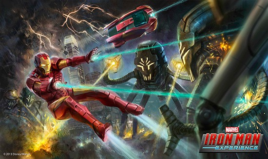 Iron Man ride concept art