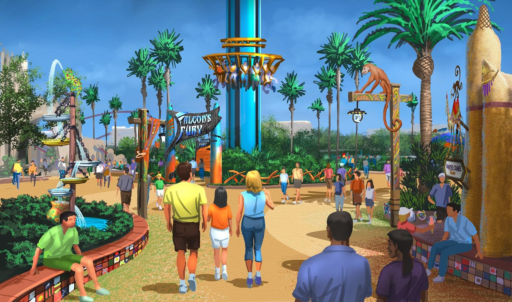 Busch Gardens Tampa announces new land with Falcons Fury Pantopia
