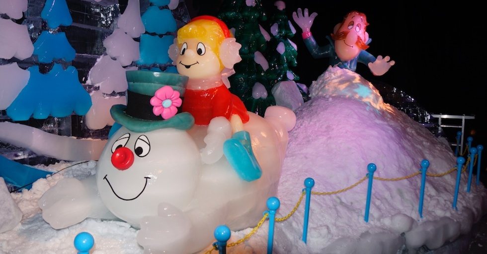 Ice with frosty the snowman