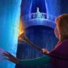 Anna and Elsa in the ice palace in disney frozen