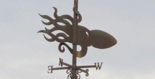 Squid weather vane at Magic Kingdom