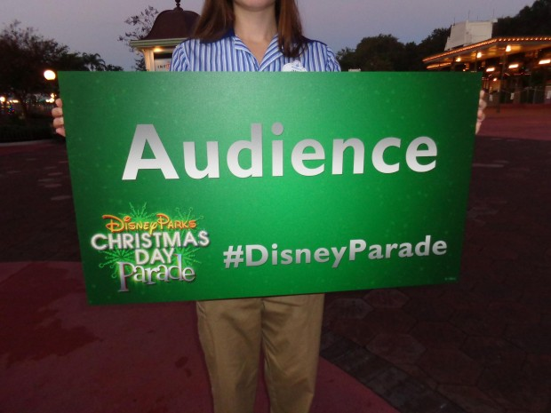 Disney Parks Christmas Day ParadeDisney Parks Christmas Day Parade sign