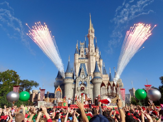 Disney Parks Christmas Day Parade fireworks