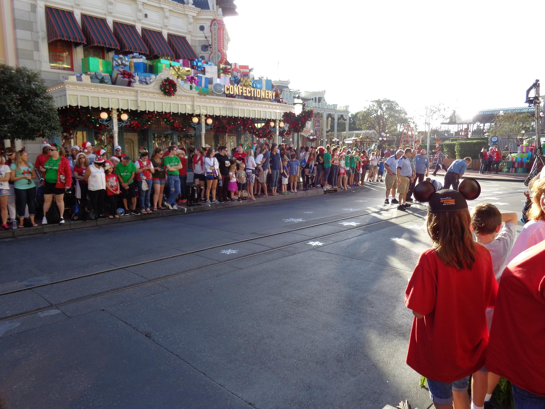 Morning of day two for the Disney Parks Christmas Day Parade filming
