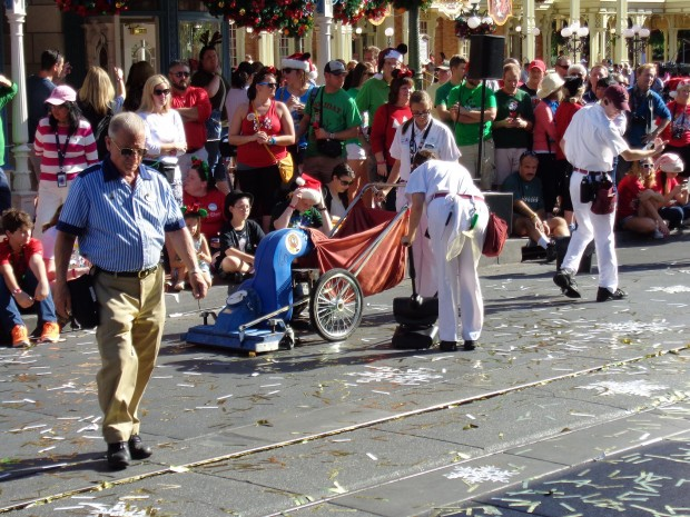 Disney Parks Christmas Day Parade custodial