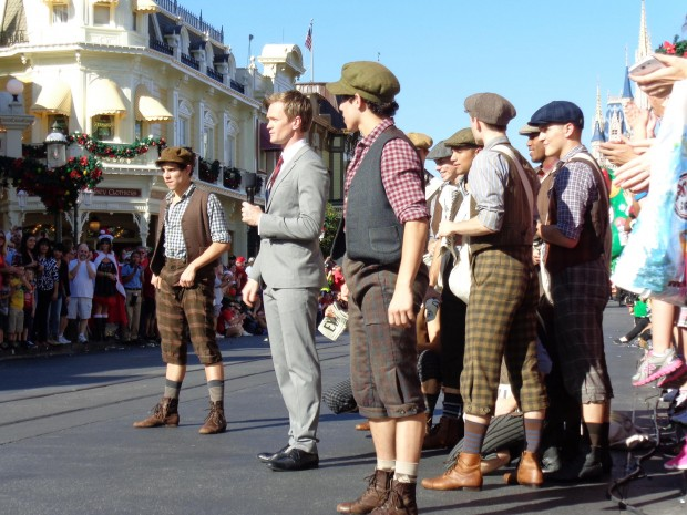 Disney Parks Christmas Day Parade neil newsies