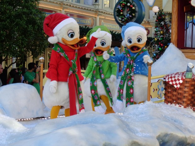 Disney Parks Christmas Day Parade huey dewey louie