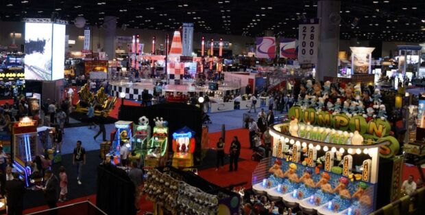 overview of the IAAPA expo 2013 show floor