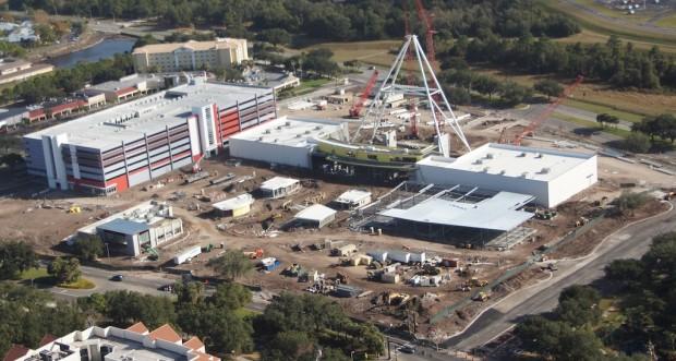Orlando Eye construction from above