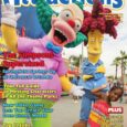 Winter 2013/14 issue of Orlando Attractions Magazine featuring Sideshow Bob and Krusty the Clown at Universal Orlando