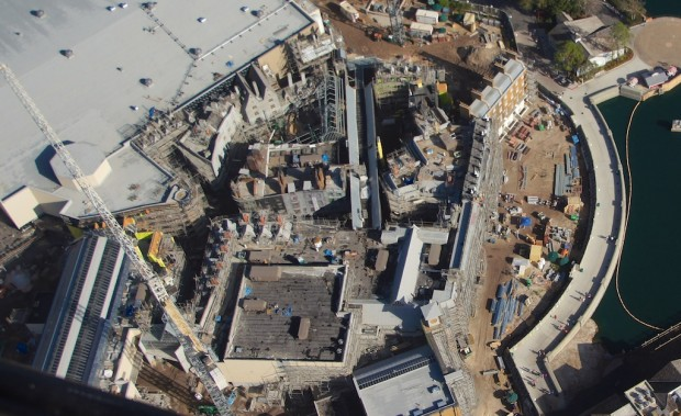 Wizarding World Diagon Alley expansion aerial top down