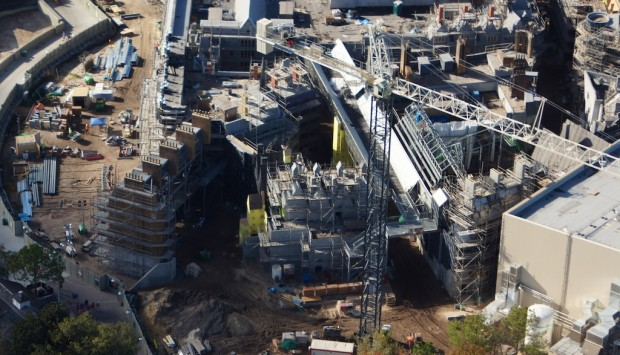 Wizarding World Diagon Alley expansion aerial side view