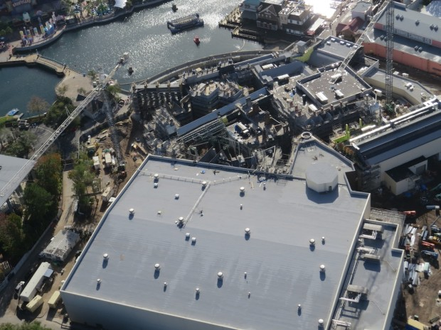 Wizarding World Diagon Alley expansion aerial photo