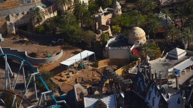 Wizarding World Diagon Alley expansion aerial train entry
