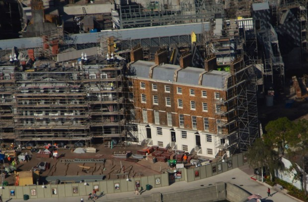 Wizarding World Diagon Alley expansion aerial photo 12 Grimmauld Place