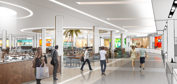 Florida mall food court rendering