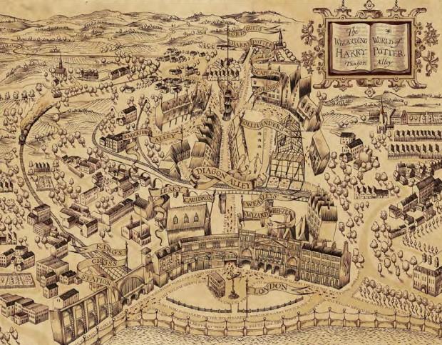 diagon alley marauder's map