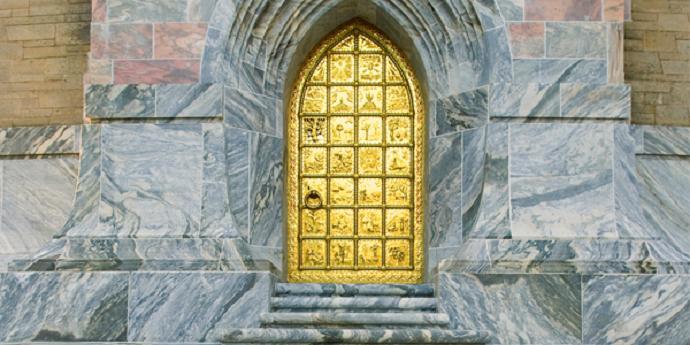 bok tower gardens brass door