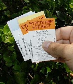 paper fastpass cards at disney