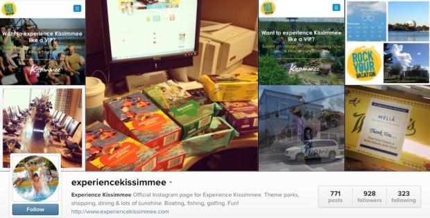 Kissimmee instagram screen shot
