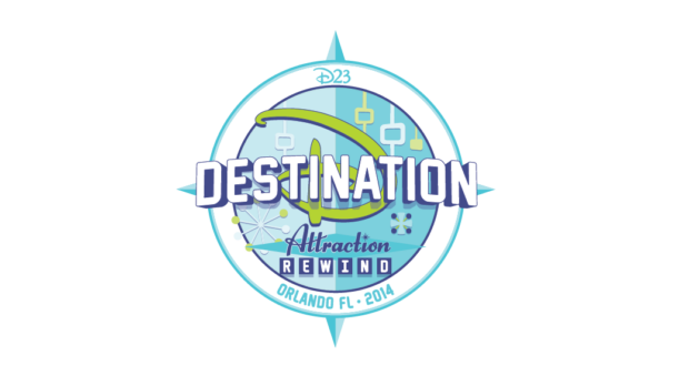 D23 Destination D Attraction Rewind Logo