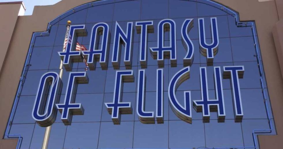 Fantasy of flight sign