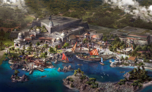 Shanghai Disneyland Treasure Cove art Pirates