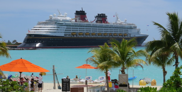 Disney Magic cruise ship at castaway cay