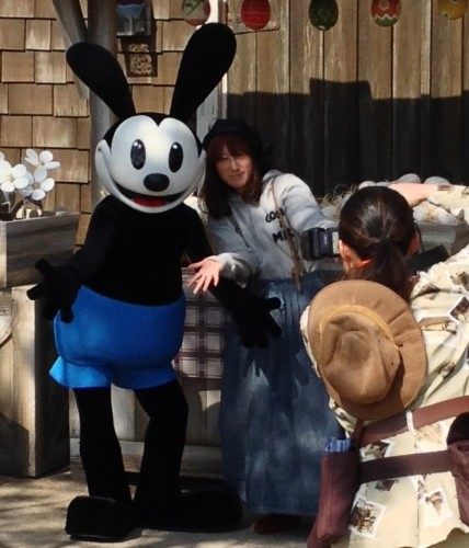Oswald the Lucky Rabbit character meet and greet