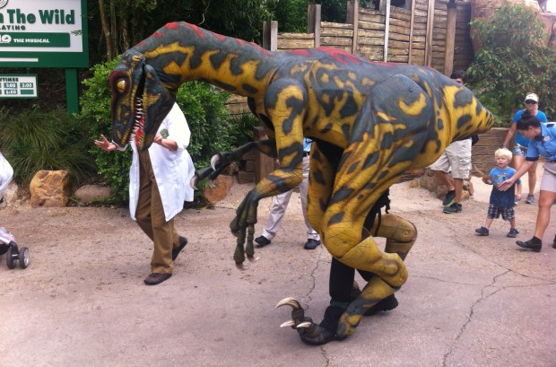 v the velociraptor at dinoland in disney's animal kingdom