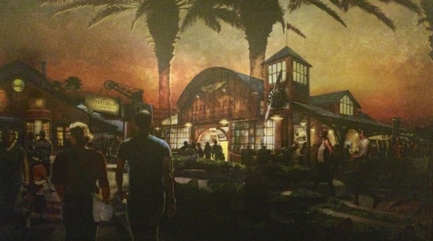 Disney Springs artwork restaurant