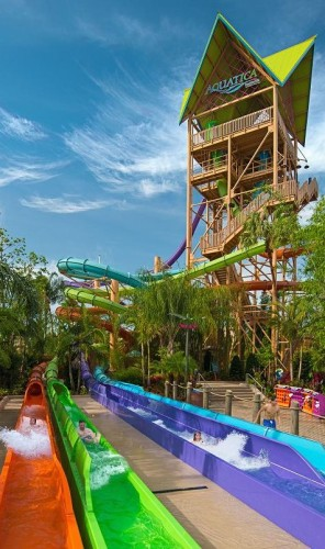 Ihu's Breakaway Falls Now Open at Aquatica Orlando - slideout