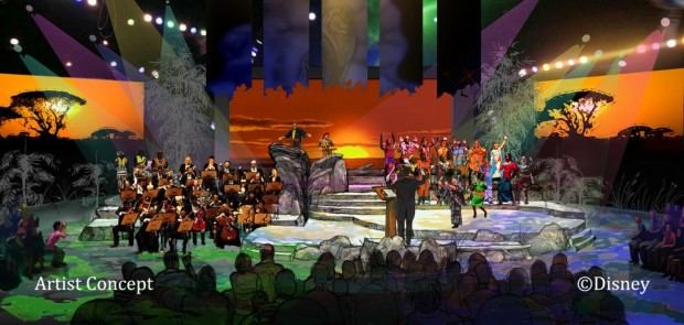 Lion King Concert in the Wild Concept art