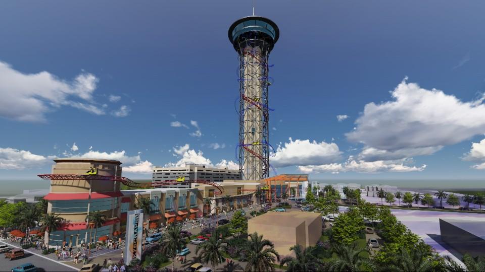 Skyscraper at Skyplex rendering