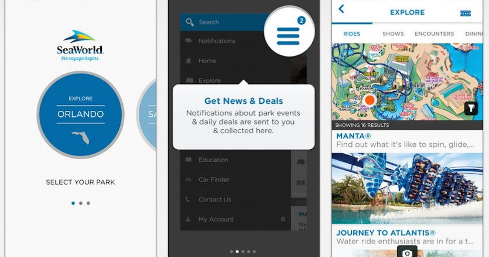 SeaWorld and Busch Gardens update their mobile apps with maps and more