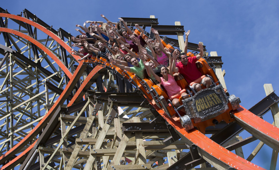 Goliath roller coaster at six flags great america