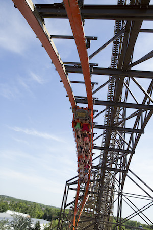 upside down riders on goliath at six flags great america