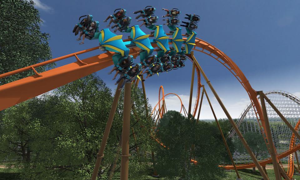 Thunderbird coaster rendering