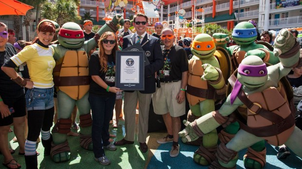 Guinness World Record broken at Nickelodeon Suites Resort with Teenage Mutant Ninja Turtles