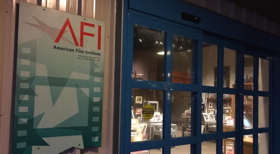AFI door and sign